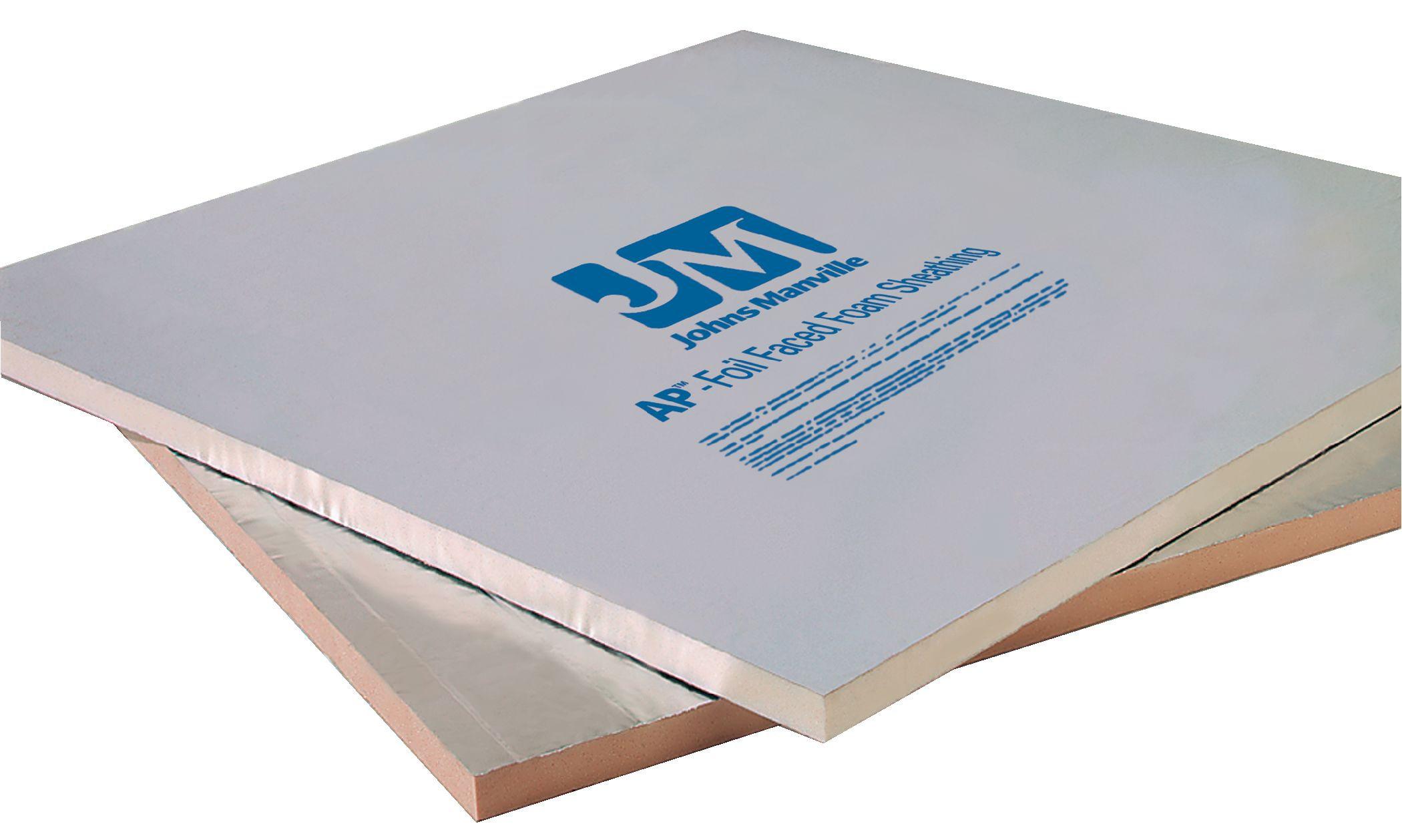 Johns manville ap foil faced foam sheathing for Green board exterior sheathing